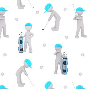 let's play golf - white