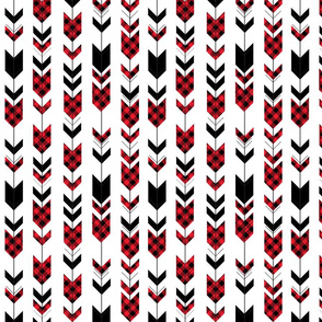 buffalo plaid arrows (small scale) || custom red