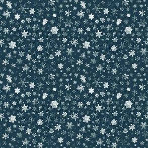 Retro Skiing Snowflakes - small