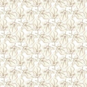 15-07B Leaf Floral Leaves Neutral Beige tan taupe Garden gardener_Miss Chiff Designs