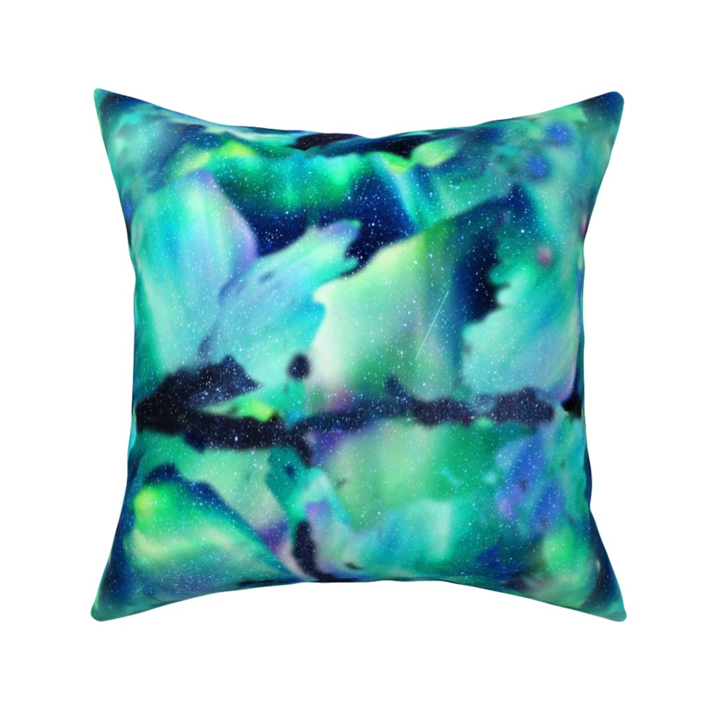 Catalan Throw Pillow featuring Aurora Borealis by whimsicalvigilante