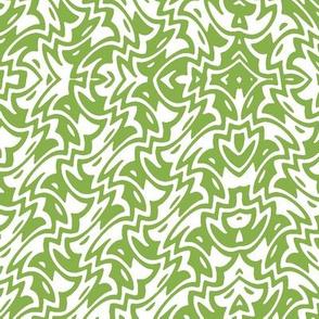 Fresh green art deco zigzag