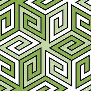06014686 : greek cube : spring green