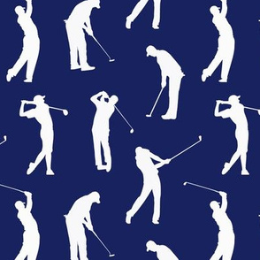 Golfers on Dark Blue // Small