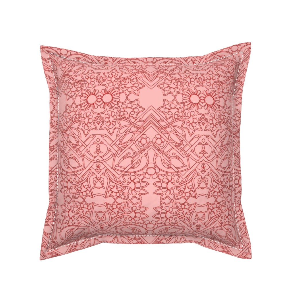 Serama Throw Pillow featuring Carnations Anonymous by edsel2084