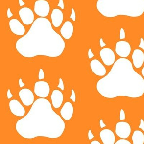 Bear Animal Print in Orange