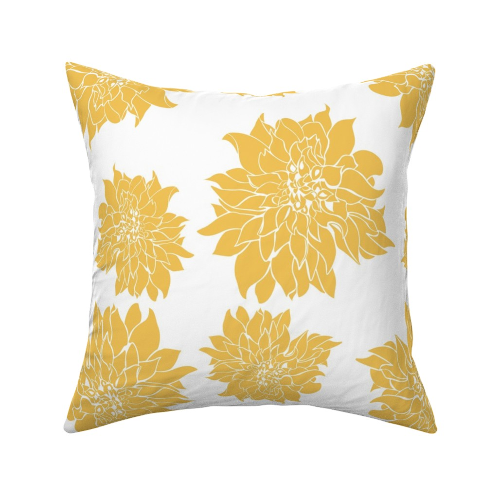 Catalan Throw Pillow featuring Villa Gold by arboreal