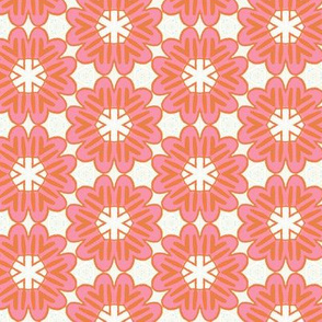 Bold Pink Blooms by Friztin