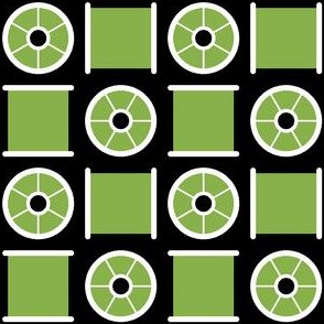 06019672 : cotton reel check : green