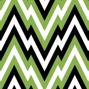 06019906 : mountain zigzag : green black white