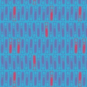 Test Tubes: Blue