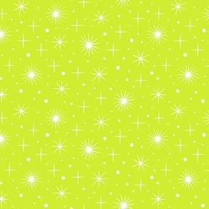 Northern light stars sky (bright green)