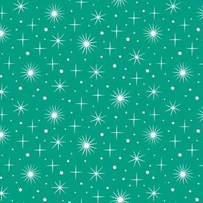 Norther light stars sky (teal)