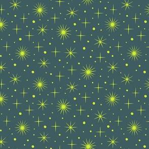 Northern light stars sky (dark)