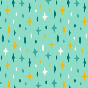 Unicorn stars sky turquoise light
