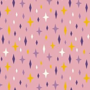 Unicorn stars sky purple light