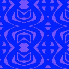 Blue Paper Cutout