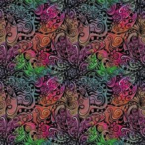 Tie Dye Floral Mandala Doodle