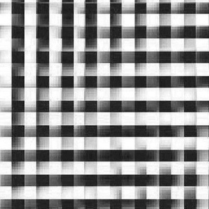 XL glitchy black and white plaid