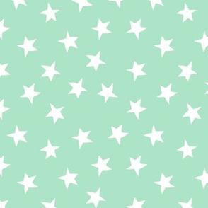 star // mint stars fabric nursery baby design cute stars