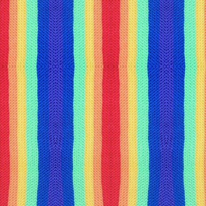 Crocheted Rainbow Stripes