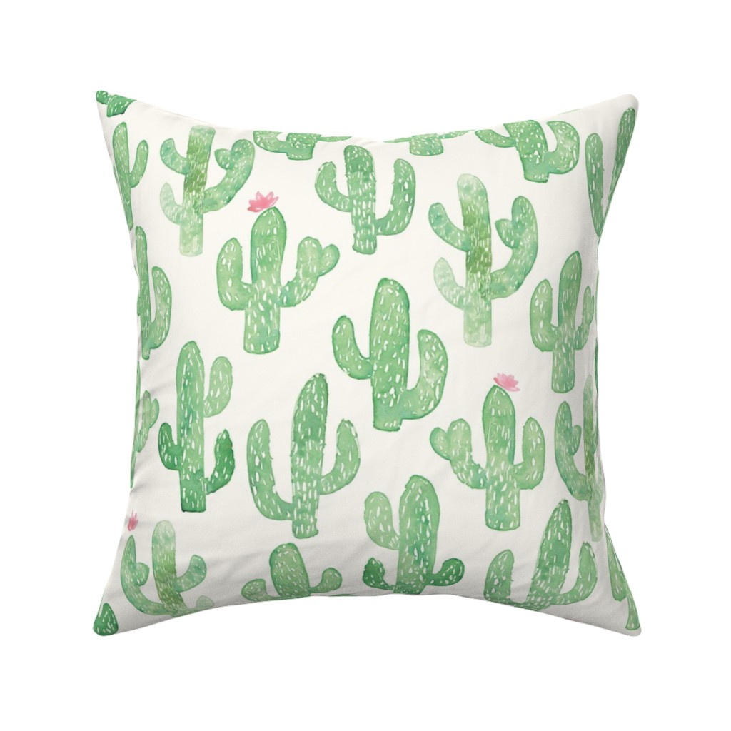 Catalan Throw Pillow featuring Cactus Print (Large) by shelbyallison