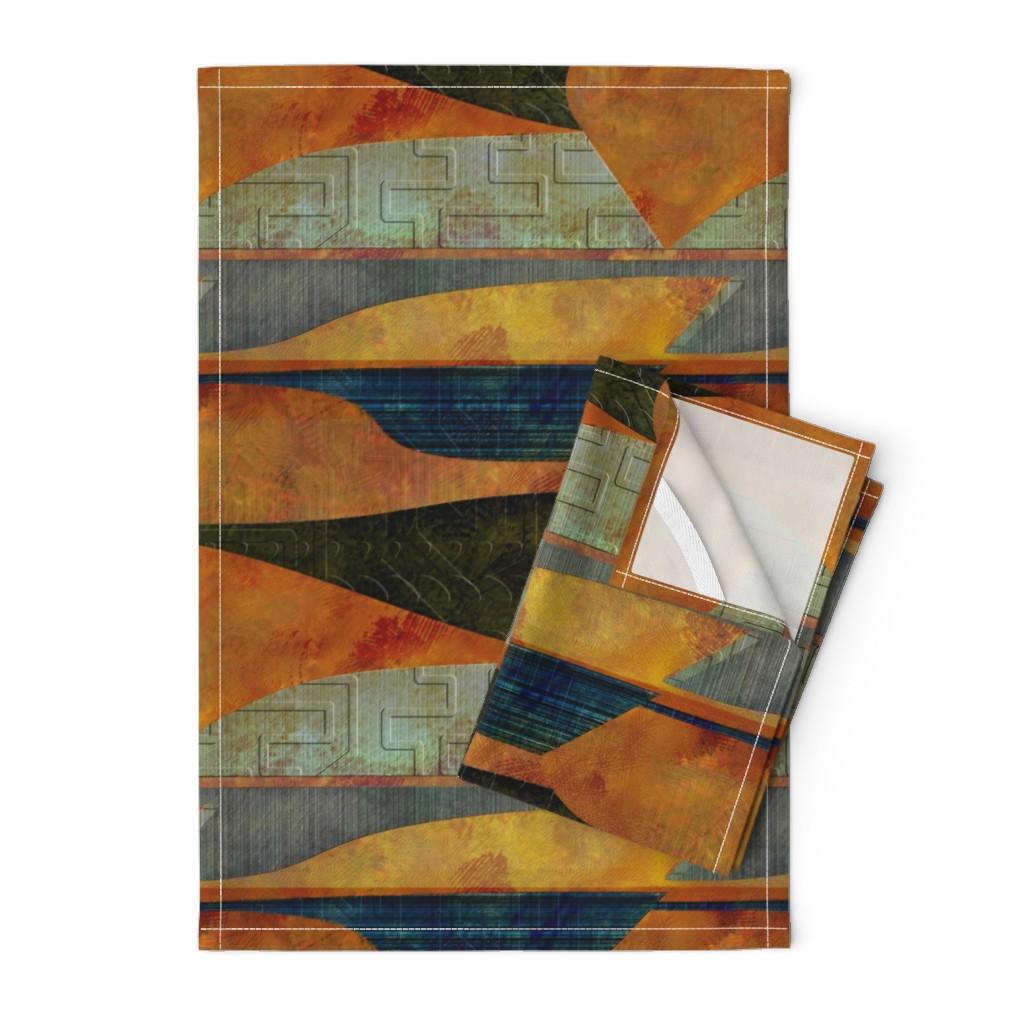 Orpington Tea Towels featuring Four-level landscape by wren_leyland