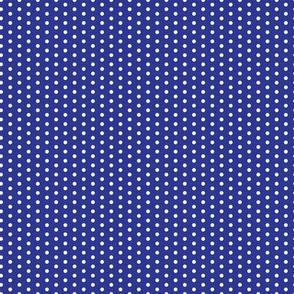 16-05c Tiny White Polka Dot on Royal Blue_Miss Chiff Designs
