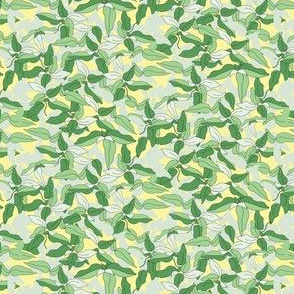 16-13AP Ms. Lemon Leaves on Pale Yellow _ Miss Chiff Designs