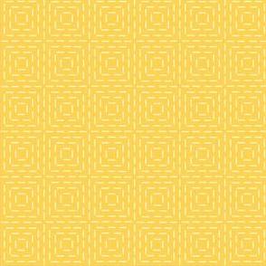 faux sashiko squares on honey gold