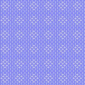 faux sashiko diamonds on periwinkle