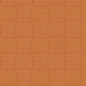 faux sashiko weave, gold on copper
