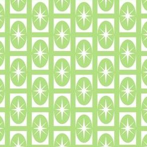 Stardust retro - green 1950 retro fabric design
