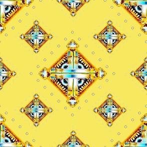 Deco Diamonds large yellow