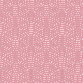 faux sashiko scallop on hyacinth pink