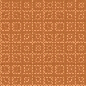 faux sashiko squares in gold on copper