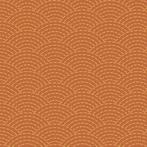 faux sashiko scallop on copper