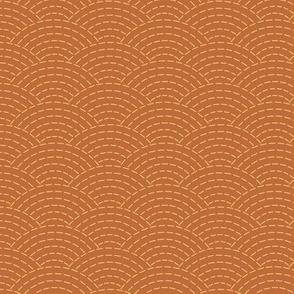 faux sashiko scallop on copper
