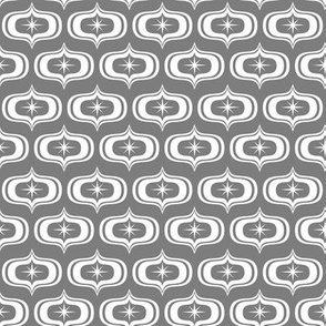 Coolio retro - grey 1950 fabric