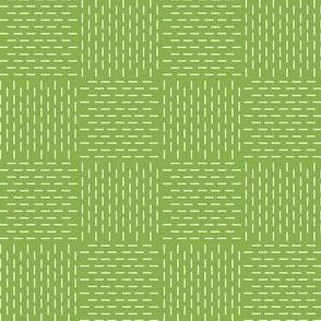 faux sashiko weave on fresh green