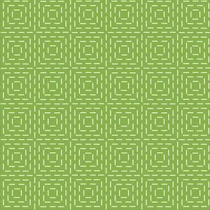 faux sashiko squares in fresh green