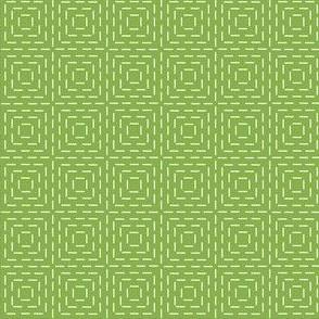 faux sashiko squares in fresh green