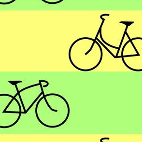 His and Hers Green and Yellow Stripes