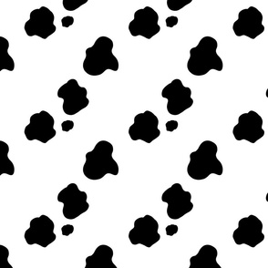 Black spotted cow hide