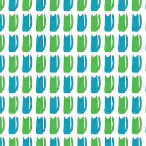 Cats, green blue
