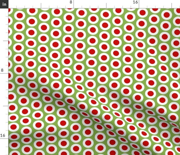 White Polka Dots on Yellow Background By Choice Fabrics-By The Yard