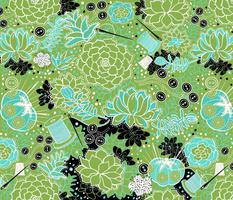 Hand-sewn Succulents Celebrating Greenery