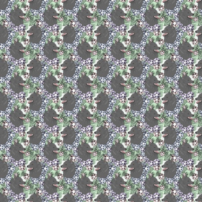 Floral Schipperke portraits - small