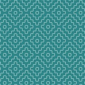faux sashiko plus on teal
