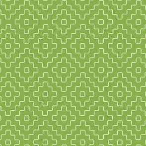 faux sashiko pluses in fresh green